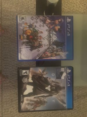 PS4 Destiny & Kingdom Hearts Games for Sale in Bedford, MA