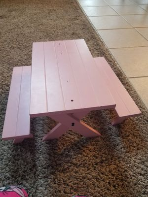 American Girl Doll picnic table for Sale in Byrnes Mill, MO