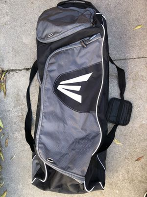 Easton baseball bag with wheels in good shape equipment gloves bats for Sale in Los Angeles, CA