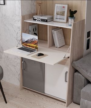 Functional computer writing desk contemporary functional desk made Europe for Sale in Fort Lauderdale, FL