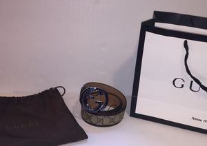 Gucci Authentic Brown Monogram Leather Belt for Sale in New York, NY