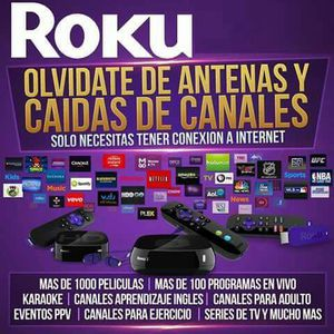 ROKU STICK O ROKU 1 CON 1 MES DE MACHTV INCLUIDO for Sale in Houston, TX