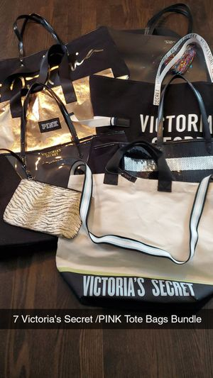 7 Victoria's Secret /PINK Tote Bags - Naperville Pick up Only for Sale in Naperville, IL