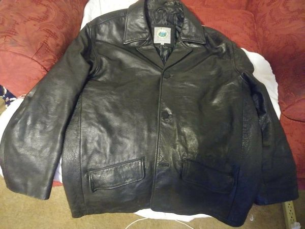Heavy Forest club leather button up jacket