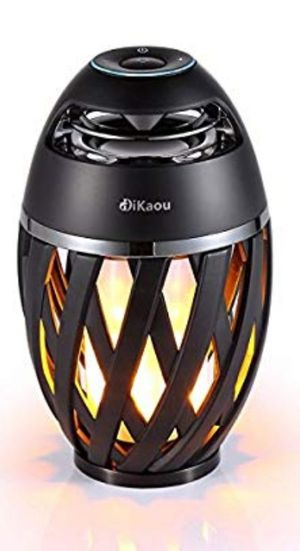 DIKAOU Led flame table lamp, Torch atmosphere Bluetooth speakers&Outdoor for Sale in San Jose, CA