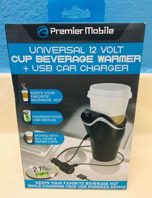 12 Volt Cup Beverage Warmer And USB Car Charger for Sale in Riverside, CA