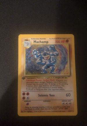 1st edition Pokémon Machamp card, super rare for Sale in Cobden, IL