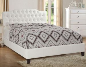 BRAND NEW QUEEN BED FRAME WITH BAMBOO MATTRESS INCLUDED AVAILABLE IN GREY, WHITE, BLACK for Sale in Chino, CA