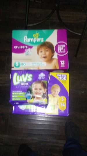 Pampers cruisers 5 n luvs 5 with wipes for Sale in Cypress, TX
