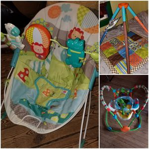 Stationary Jumper, Table baby Holder & Baby Floor Mat for Sale in Victoria, VA