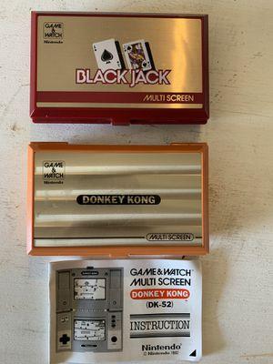 Excellent condition Vintage rare Nintendo Multi screen blackjack donkey Kong for Sale in Dallas, TX
