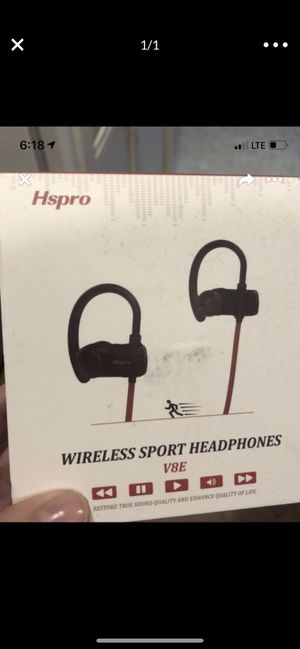 Wireless Bluetooth headphones sport for Sale in Fort Worth, TX