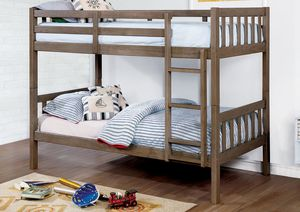 Twin over Twin Bunk Bed, Grey Color for Sale in Santa Ana, CA