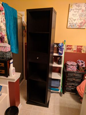 World market Tall swivel shelving hid a mirror/towel/bathroom storage for Sale in Ladson, SC