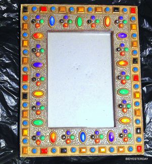 "Jeweled byzantine picture frame for 4"" x 6"" photographs .... newer for Sale in Saginaw, MI"