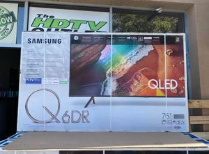 "75"" Qled Samsung Smart 4K UHD Led HDR 2160p Quantum Q6 for Sale in March Air Reserve Base, CA"