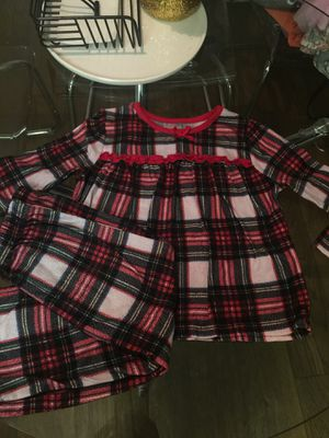 Plaid pjs size 4t for Sale in Irvine, CA