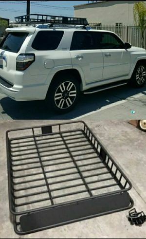 Brand New in box XXL large 64x45x7 inches tall roof travel cargo carrier storage rack for suv car truck with mounting brackets for Sale in Whittier, CA