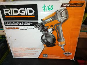 COIL ROOFING NAILER RIDGID for Sale in Phoenix, AZ
