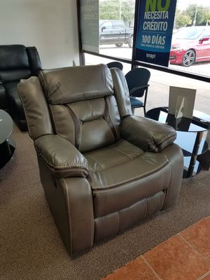 [SHOWROOM SALE] Couch Glider Recliner in Bonded Leather Living Room {Only $50 Down} [90 Days to Pay Cash Price & No Interest} for Sale in Irving, TX