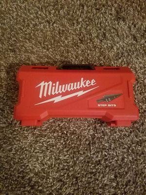 Milwaukee step down bit set for Sale in Phoenix, AZ