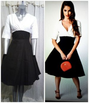 PIN Up Black & White Sleeved dress for Sale in Whittier, CA