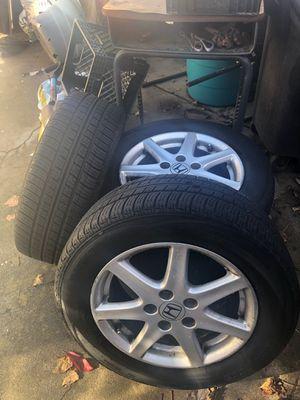 4Honda wheels and tires 215/60R16 for Sale in Rancho Cordova, CA