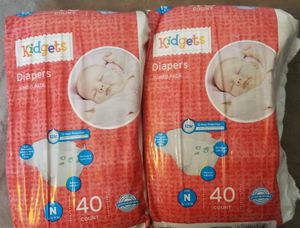 80 Kidgets Newborn Diapers brand new for Sale in The Bronx, NY