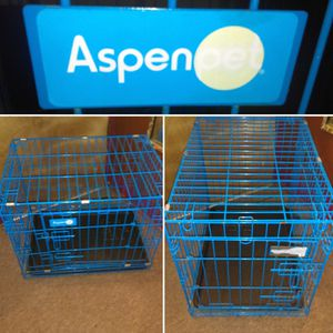 Small 2 Door AspenPet Dog Crate-Blue for Sale in Adams, NY