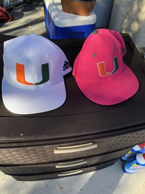 University of Miami hats (Adidas) for Sale in Las Vegas, NV