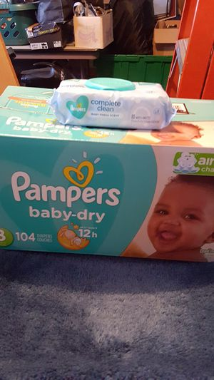 PAMPERS SIZE 3 and WIPES for Sale in Pflugerville, TX