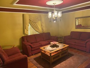 3 set couches for sale with 2 wood side tables & wood coffee table for Sale in Dearborn, MI