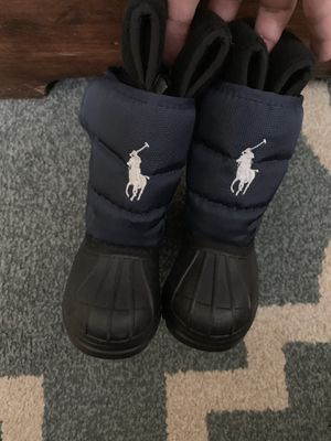 Ralph Lauren polo snow/ rain boots 4c little kids for Sale in Arlington, TX