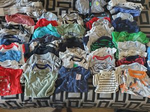 Newborn clothes, diapers, baby carrier, carseat head support for Sale in Goodyear, AZ