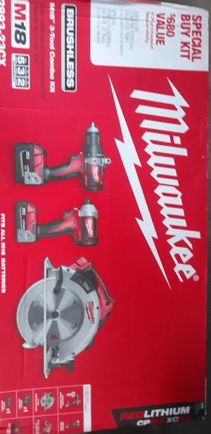3 piece milwaukee m18 brushless for Sale in Beaverton, OR