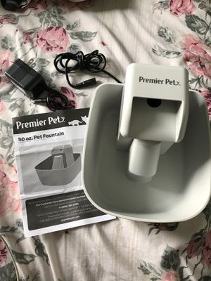 50oz Pet Water Fountain by Premier Pet for Sale in Otis Orchards, WA