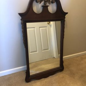Early 1900's American Federal-style wall mirror with eagle topper for Sale in Canton, OH
