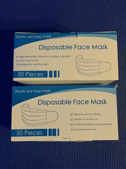 Disposable Face Mask (2 Boxes) for Sale in San Jose,  CA