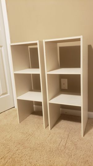 Set of 2 cubic storage shelves for Sale in Twinsburg, OH