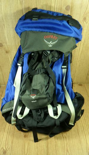Osprey crescent 75 Internal Frame Backpack w/ Detachable Solo Pack Size Large for Sale in Austin, TX