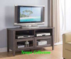 NEW, Melina 2 Glass Door TV Stand up to 55in TVs, Distressed Grey , SKU# 161566 for Sale in Westminster,  CA