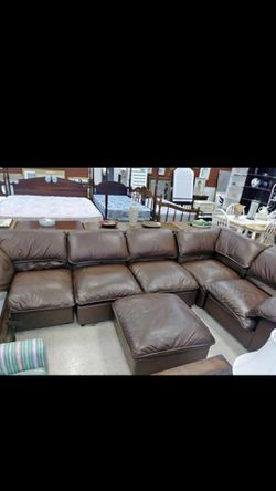 Leather sectional sleeper for Sale in Stone Mountain,  GA