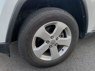 4 stock jeep wheels and tires used for Sale in Alexandria,  VA