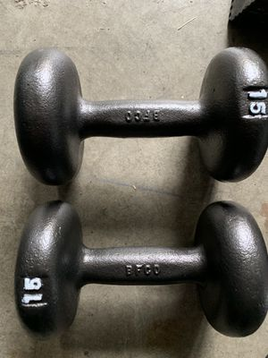 Dumbbells pair 15 for Sale in Kent, WA