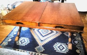 Antique coffee table or hallway or sofa table with removable trays for Sale in Las Vegas, NV