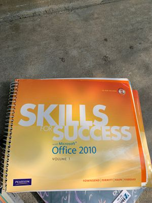 Skills for Success with Microsoft Office 2010, Vol. 1 1st Edition ISBN-13: 978-0137032570, ISBN-10: 0137032579 for Sale in Sacramento, CA