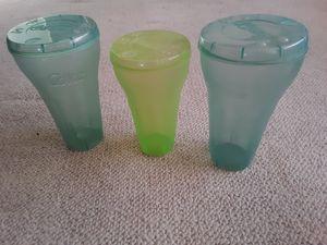 Coke cola tumblers / lids and kool aid cups for Sale in Waterloo, IA