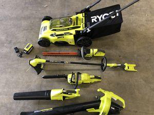 Ryobi 40V yard tools set -lawn mower,weed wacker,blower) for Sale in San Diego, CA