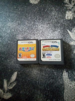 Mario party ds and Mario and sonic Olympic games for Sale in Chicago, IL