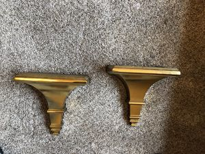 Gold wall shelves , large enough to sit items (2) for Sale in Chicago, IL